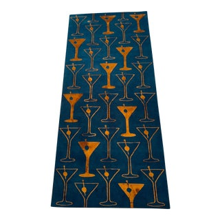 Tibetan Hand Knotted/Hand Spun Wool & Silk Rug - 3′10″ × 8′6 For Sale