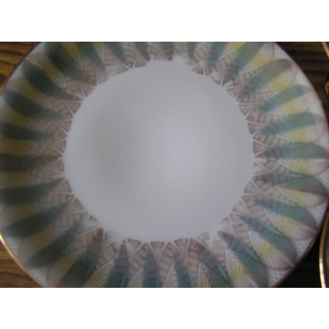 Ceramic Mid-Century Coffee Cups & Plates - 12 Pieces For Sale - Image 7 of 12