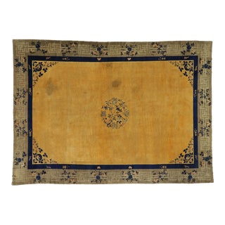 Antique Chinese Peking Art Deco Style Rug - 11'01 X 15'05 For Sale