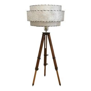 Vintage Surveyors Tripod Adjustable Floor Lamp For Sale