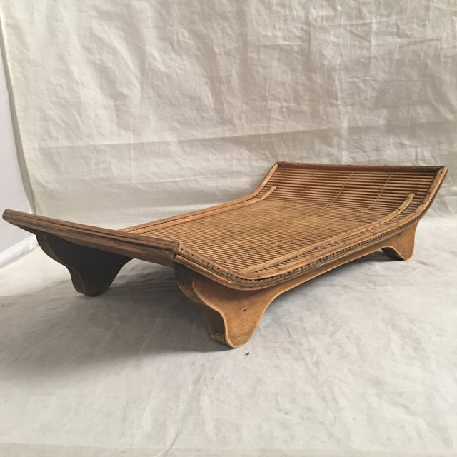 Contemporary Asian Style Carved Wood Display Stand/Tray For Sale - Image 4 of 6