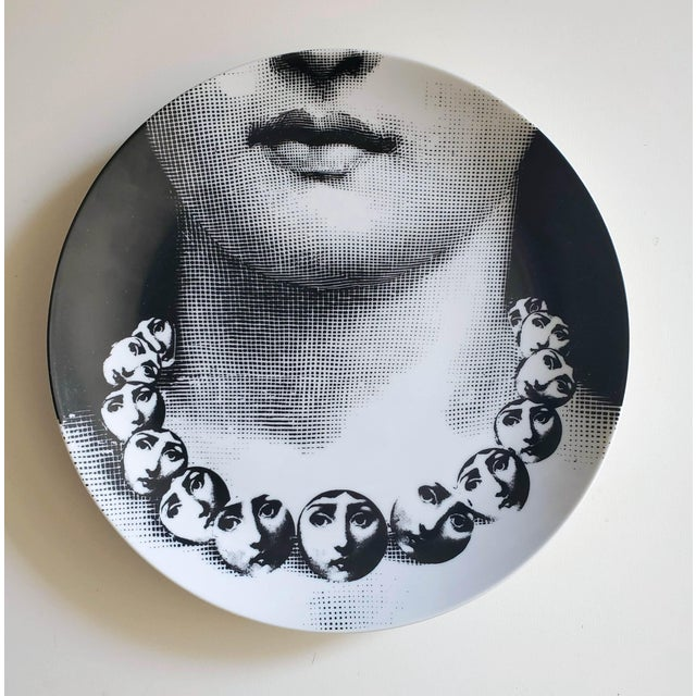 Piero Fornasetti Porcelain Plate Themes & Variation, Pattern # 121 For Sale In Philadelphia - Image 6 of 8