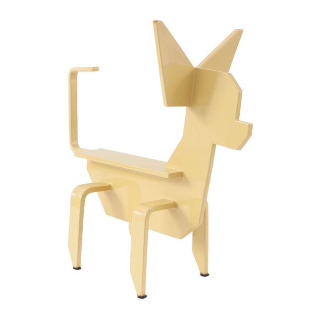 """Altmeyer and Guichard. """"Chihuahua"""" 2015. Powder coated stainless steel. Signed and numbered series of 8."""