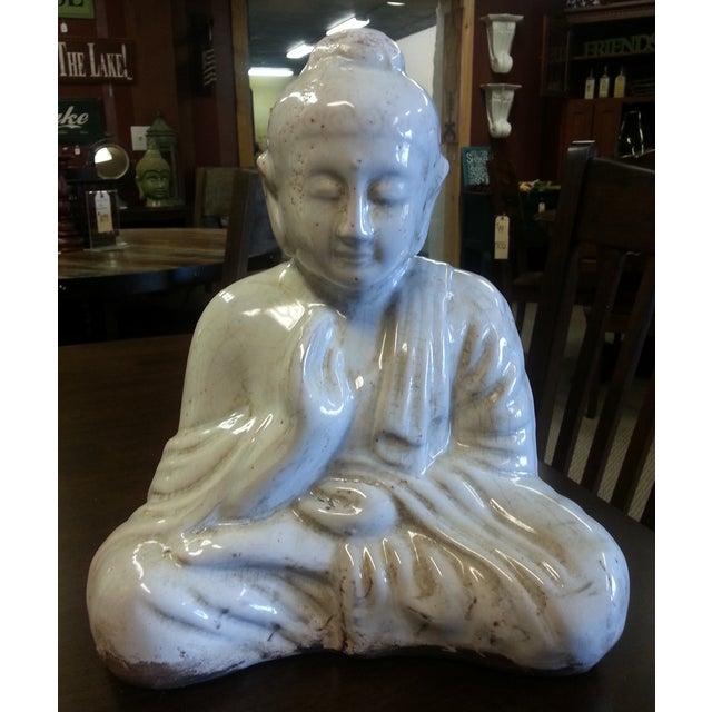 Sitting Buddha Statue With Ivory Finish - Image 2 of 7