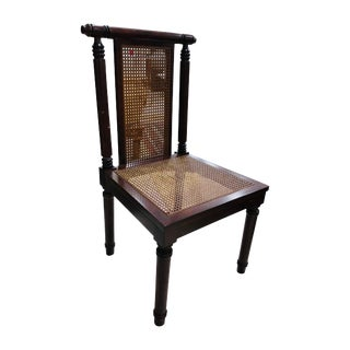 Cane Colonial Style Occasional Chair For Sale