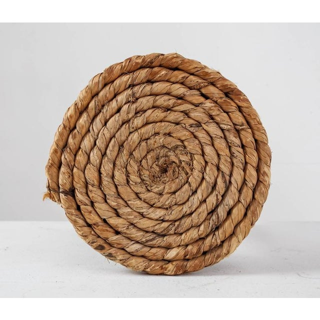 1950s French Campagne Style Wood and Rope Tripod Stool, 1950s For Sale - Image 5 of 8
