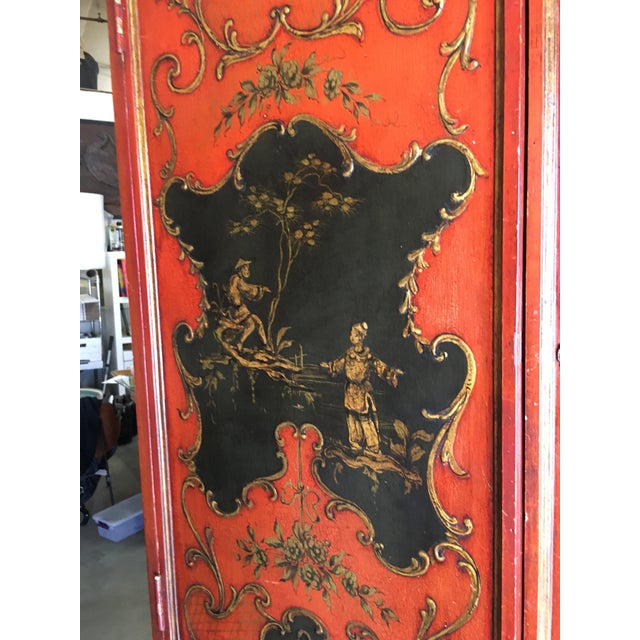 1950s Hollywood Regency Secretary Desk Secretaire Bookcase W/ Chinese Motif For Sale - Image 5 of 11