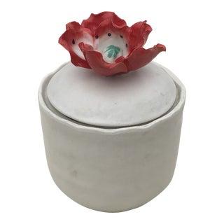 Flower Relief Ceramic Jar For Sale