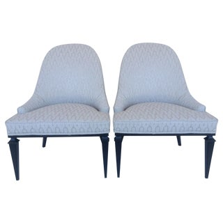 Hollywood Celebrity Comedy Duo Couples Estate -Lounge Chairs by Michael Taylor for Baker - a Pair For Sale