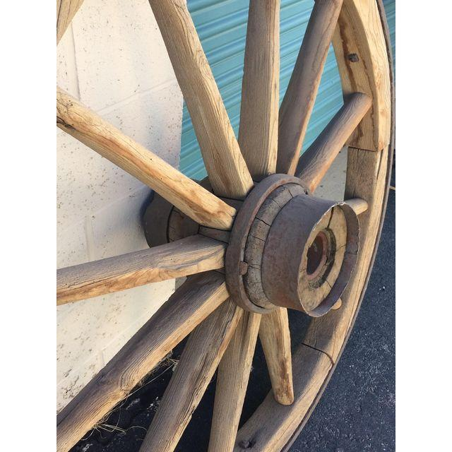 Very Large Pioneer Covered Wagon Wheel - Image 2 of 4