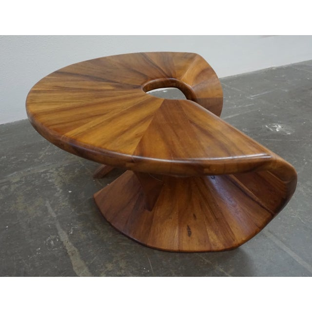 Laminated Walnut Coffee / Side Table For Sale - Image 4 of 11