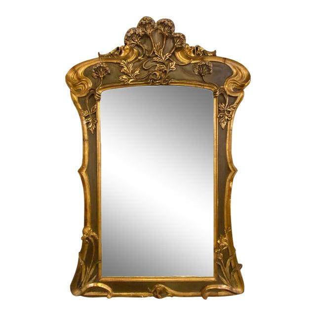 Belle Époque Style Wall or Over Mantel Mirror Art Nouveau Form For Sale