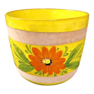 1970s Vintage Boho Chic Italian Ceramic Planter For Sale