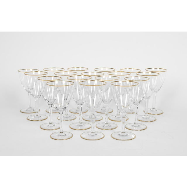 Vintage Baccarat Wine / Water Glassware - Service for 18 People For Sale - Image 11 of 13