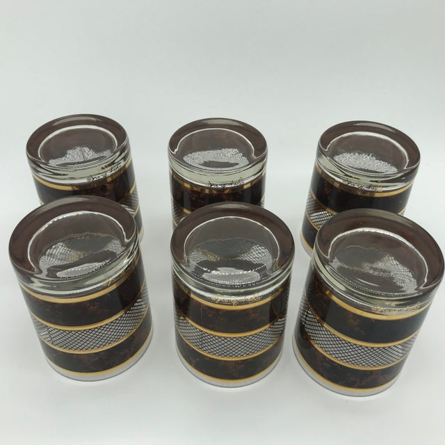 Vintage Georges Briard Old Fashioned Cocktail Glasses Set of 6 For Sale - Image 9 of 12