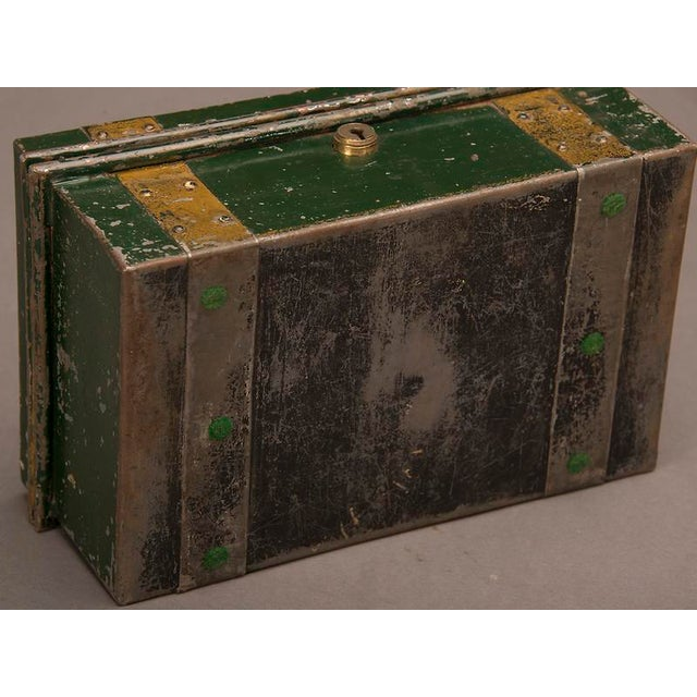 """Street Vendor's """"Cash"""" Hinged Metal Box, Painted Finish, England c. 1890 For Sale In Houston - Image 6 of 8"""