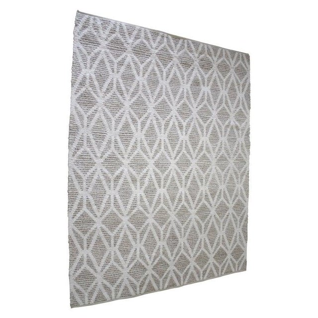 New Modern Wool and Natural Fiber Rug For Sale - Image 10 of 10
