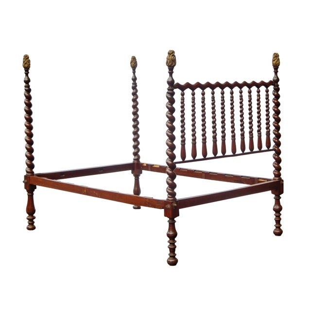 Late 19th Century 19th Century Barley Twist Full Bed For Sale - Image 5 of 7