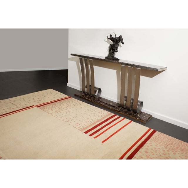 Original wool rug designed by D.I.M, circa 1940 Material: wool Dimensions: 300 x 300 cm/ 9.84 x 9.84 ft.