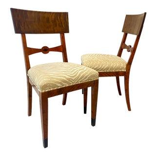 19th Century Swedish Biedermeier Klismos Chairs -- a Pair For Sale