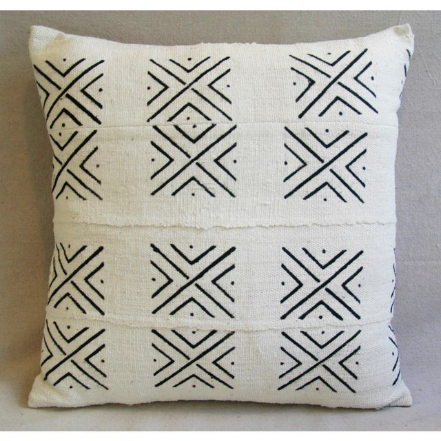 African Mali Mud Cloth Tribal Textile Pillow - Image 4 of 5