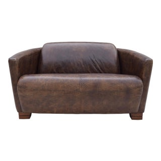 Leather Aviator Loveseat For Sale