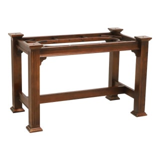 Knob Creek Mahogany Chippendale Dining Table Base For Sale