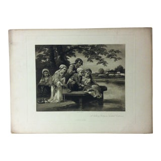 """Antique Photogravure on Paper, """"A Fishing Party in Turkish Costumes"""" from D. Appleton & Co - Circa 1860 For Sale"""