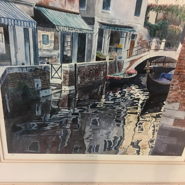 """Venice Scene"" Artist Proof Signed Lithograph For Sale In New York - Image 6 of 10"