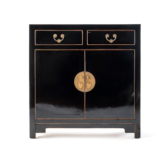 Asia Black Hallway Zen Cabinet For Sale In New York - Image 6 of 6