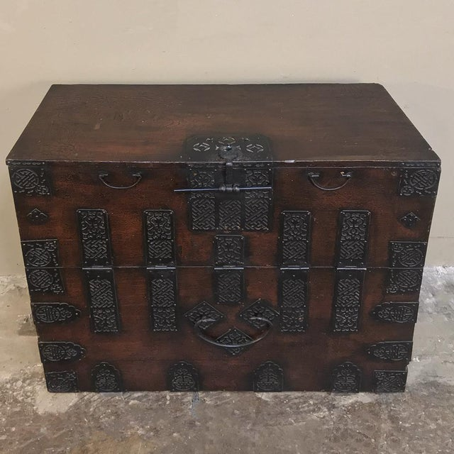 19th Century Chinese Cabinet ~ Trunk This Chinese lacquered trunk is a wonderful example of the Oriental arts, with...