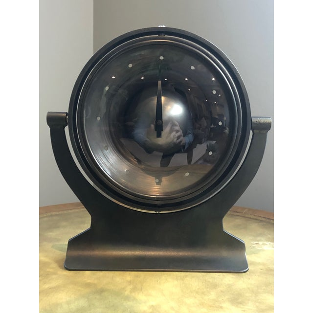 Gray Mid 20th Century Industrial Metal Clock For Sale - Image 8 of 8
