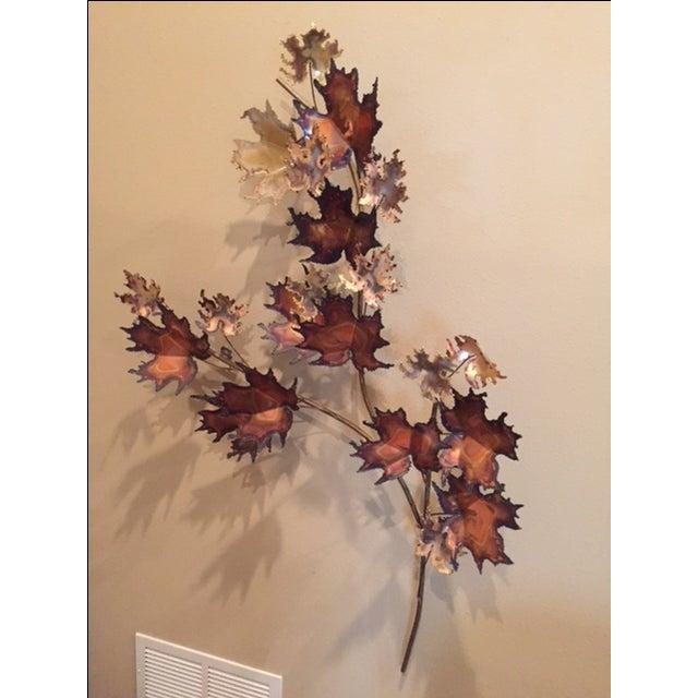 Curtis Jere Bronze Leaf Sculpture - Image 2 of 5