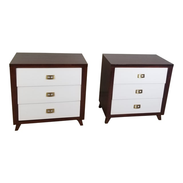 Image of Pair of Modern Chest of Drawers