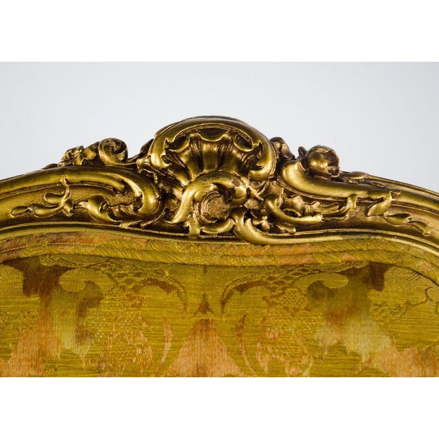 Early 20th C. French Louis XV Style Carved Giltwood Side Chairs - A Pair For Sale In Atlanta - Image 6 of 13