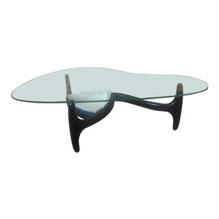 1900s Mid-Century Modern Adrian Pearsall Kidney Shaped Glass Coffee Table