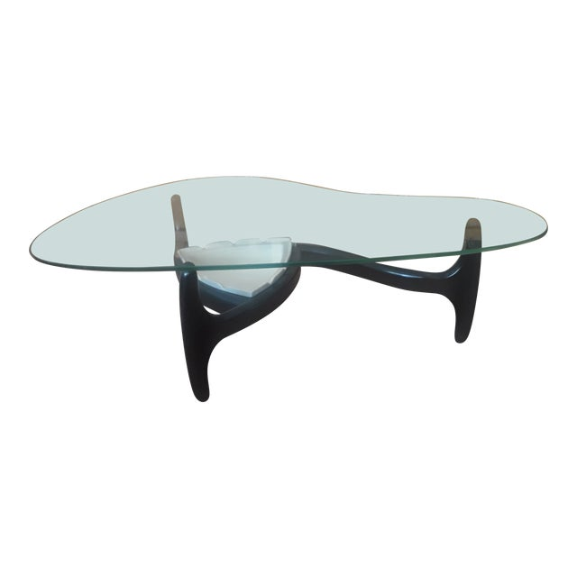 Kidney Shaped Glass Coffee Table 2