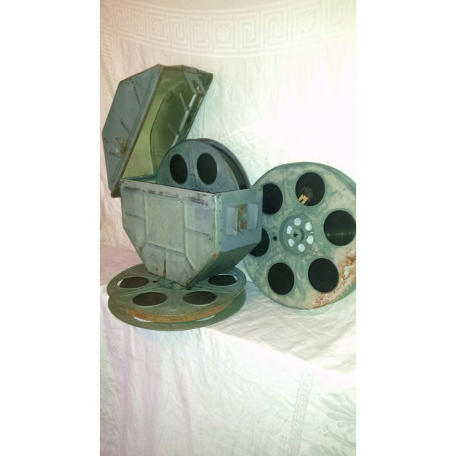 Vintage Movie Reel Canister 35mm with Three Reels For Sale - Image 4 of 10