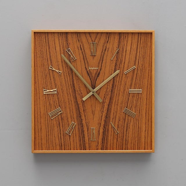 Midcentury Wall Clock by Junghans For Sale - Image 6 of 6