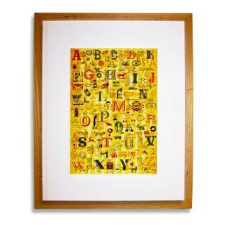 Malery Alphabet Print For Sale