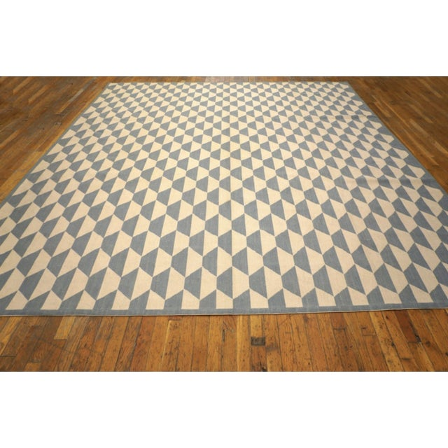 """2010s Modern Needlepoint Wool Rug 9'0"""" X 12'0"""" For Sale - Image 5 of 9"""