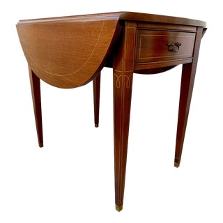 Federal Mahogany Pembroke Table With String Inlay For Sale