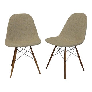Eames Dowel Leg Wire Chairs For Sale
