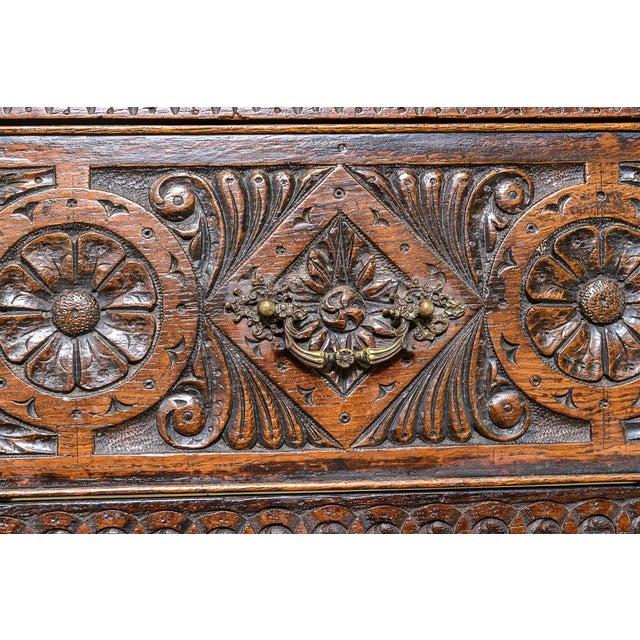 Brown Carved oak dresser For Sale - Image 8 of 9