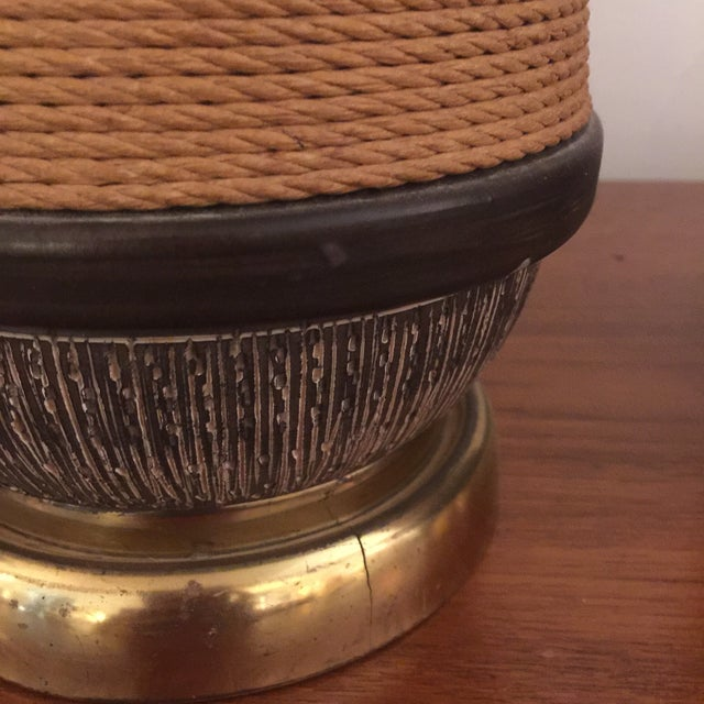 Bitossi Italy Ceramic Rope Lamp, 1960s - A Pair For Sale - Image 10 of 11