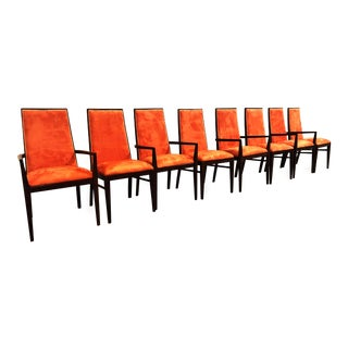 Mid-Century Modern Milo Baughman for Dillingham Walnut Dining Chairs- Set of 8 For Sale