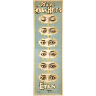 """""""Anna Held's Eyes"""" Reproduction 1800s Vaudeville Poster Print For Sale"""
