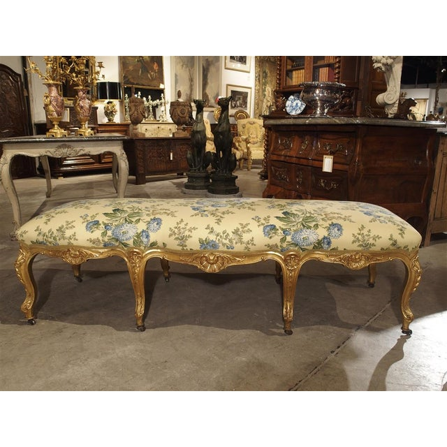 Antique Giltwood Regence Style Banquette From France, 19th Century For Sale - Image 13 of 13