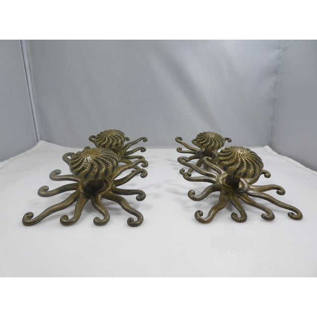 Antique Octopus/Squid Drawer Handles - Set of 4 For Sale In Miami - Image 6 of 9