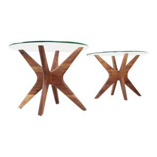 "Mid Century Walnut ""Jax"" Side Tables For Sale"